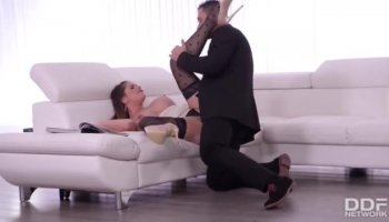 Wife Jaycie Lane takes on a monster cock!