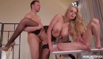 Hardest double penetration for Renata Black