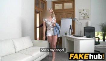 Angel Rivas Bounces Her Head On Cock
